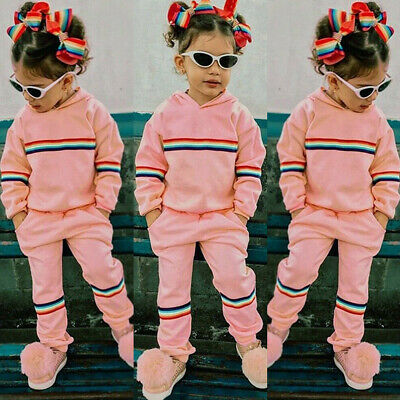 Toddler Kid Baby Girl Clothes Hoodies Tops Pants Trousers Outfits Sets Tracksuit