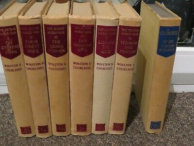 The Second World War, Winston Churchill complete 6 book set, 1950-56 plus BONUS