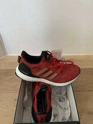 Adidas Ultra Boost X Game Of Thrones House Lannister UK Ladies 4 Red Gold