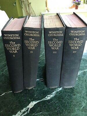 "Winston Churchill's ""The Second Great War"" Original Volumes I To Iv."