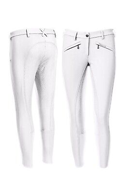 Pikeur White Latina Grip Breeches Size 18 Eu 46