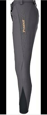Pikeur Enna Grip Breeches In Steel Grey Size 18 Eu 46