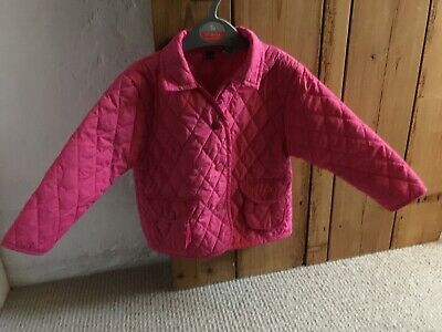 Girls Quilted Pink Jacket Coat Age 1-2 Years (18-24 Months) VGC