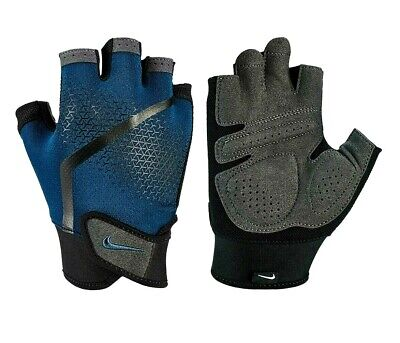 Nike Mens Extreme Fitness Sports Weight Lifting Training Gloves Blue Black Grey