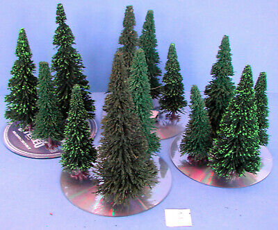 HO SCALE RAIL WARGAMES B5 PACK OF 10 MODEL CONIFER TREES 12 cm SCENERY FOR OO