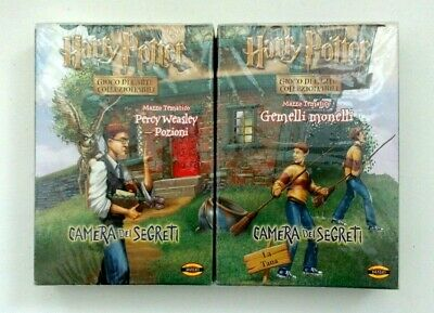 Harry Potter TCG Twin Trouble & Percy Potions Theme Decks Chamber Secrets ITA