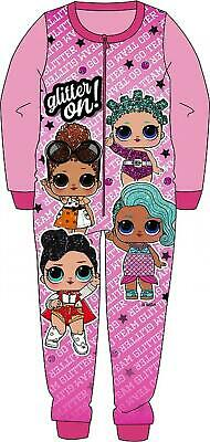 LOL SURPRISE all in one, pyjamas, sleepsuit, pjs Girls  2-8 yrs - fleece - Pink