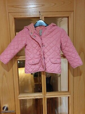 Girls Hooded Pink Quilted Jacket NEXT 3-4 Years