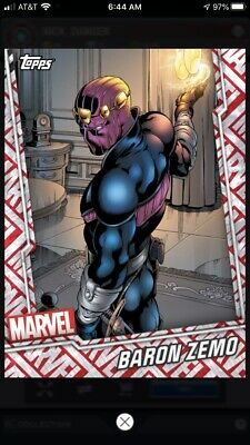 Topps Marvel Collect Digital Card - Tier 7 Motion Card - Baron Zemo