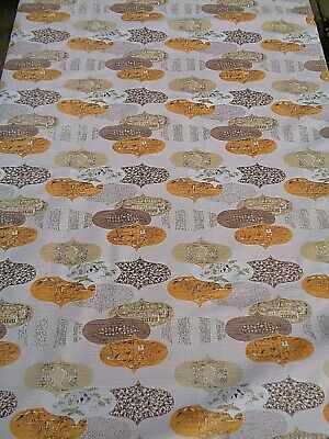 Vintage Retro Kitchen Tablecloth Handmade Heavy Woven Material 47 by 63 Inches