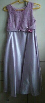 Girls Lilac Party Dress, Age 10- 104cm, Next , Worn Once With Net Petticoat.