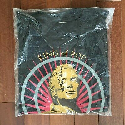 "Rare Vintage History Tour T-Shirt - Still Sealed! - ""Statue""  Michael Jackson"