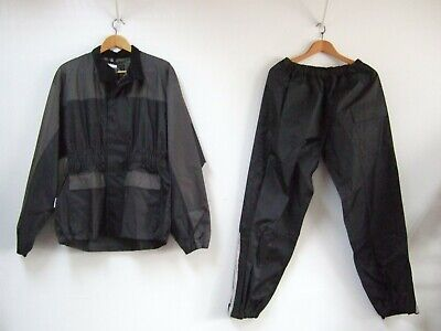 Himalaya Motor Bike Wear Rain Suit Large Black & Gray