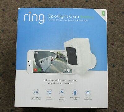 Ring 8SB1S7 Spotlight Cam Battery Security Camera - White