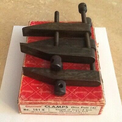 "Pair Of Starrett No.161-E Clamps 5"" Jaw Length 3 1/2"" Opening "" Very Nice """