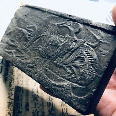 Chinese ANTIQUE Tomb Brick with Bow hunting RELIEF  Han Dynasty