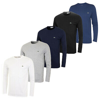 Mens Lacoste Long Sleeve Crew Neck Polo T Shirts
