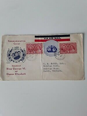 Canadian FDC, George V1 Coronation, May 19th 1937, Montreal to Boreham Wood.