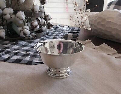 Vintage Amston Sterling Silver Paul Revere Reproduction Bowl Compote #240