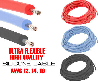 12/14/16 AWG Gauge High Quality Flexible Stranded Silicon Cable Wire