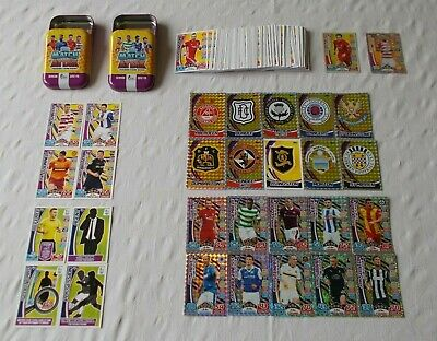 SPFL / Scottish Match Attax 2017-2018 = Bundle of 150 Cards + 2 x Mini Tins B11