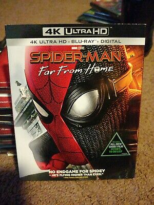 Spider-Man Far From Home New 4K Ultra HD, Blu-ray, & Slipcover (no digital)