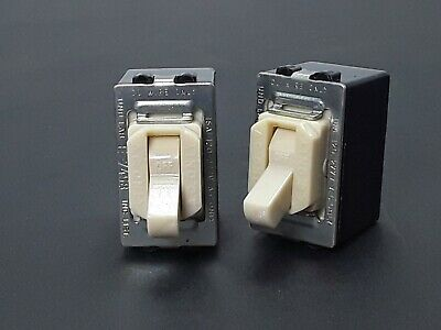 (2) Vtg Ivory Leviton Despard Toggle Switch 15A-120/277 VAC - Lot of TWO - NOS