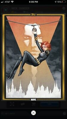 Topps Marvel Collect Digital Card - Gold Comic Book Cover - Black Widow