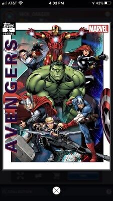 Topps Marvel Collect Digital Cards - Avengers 1st Printing Complete Set + Award