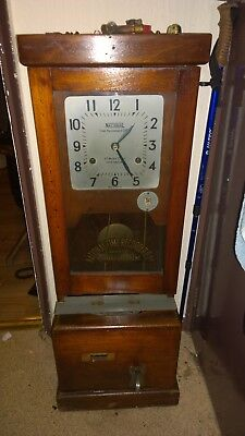 -National Time Recorder Co.Ltd St Mary Cray Kent Clocking In Clock