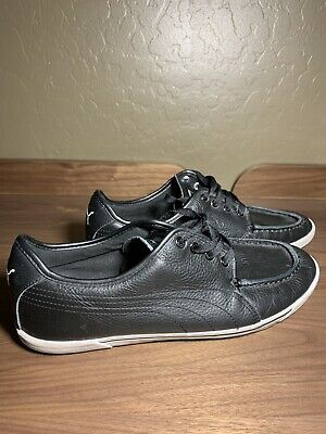 PUMA BENECIO MOCC Toe Men's All Black Leather Sneakers Shoes