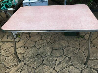 1950 RED Pattern Weave RETRO Laminex Table