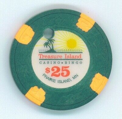 Treasure Island Casino obsolete $25 chip