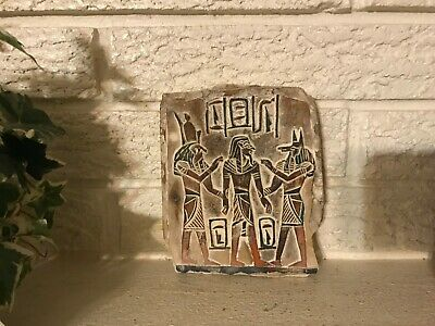 Beautiful  Egyptian Antiquity Relief Wall Carving Hieroglyphic Stone Plaque Copy