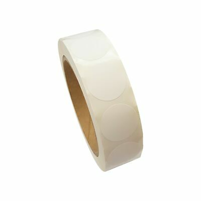 Amram 1 Inch Circle White Permanent Adhesive Labels 1000 Labels per Roll New