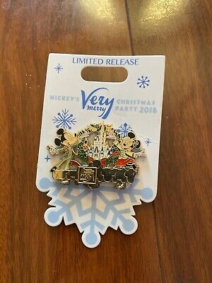 Disney Parks 2018 Mickey's Very Merry Christmas Party Logo Pin Minnie Brand New