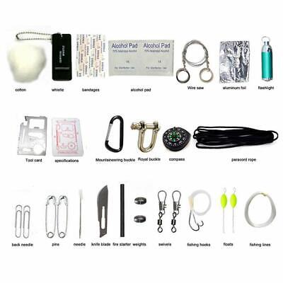 29 in 1 Emergency Camping Survival Kit Equipment EDC Outdoor Tactical Gear Tool