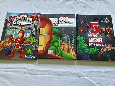 3 MARVEL STORY BOOKS Bulk Lot