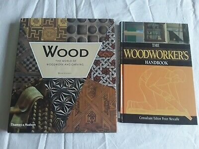 2 WOODWORKING BOOKS Bulk Lot