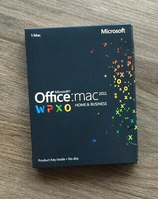Microsoft Office for Mac Home Business 2011 Key Card W6F-00198 GENUINE! Get Now!
