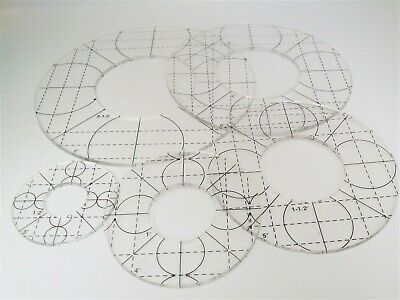 Quilting Templates Rulers Set Of 5 Circles For Low Shank Sewing Machines