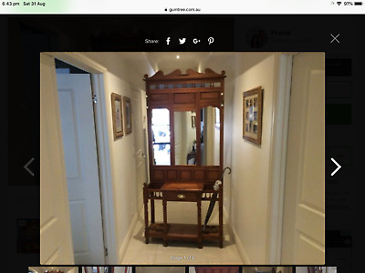 Mirrored coat hall stand antique look