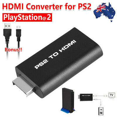 New PS2 To HDMI Video Converter Adapter Cable For PS2 HDTV HDMI Monitor Case AU