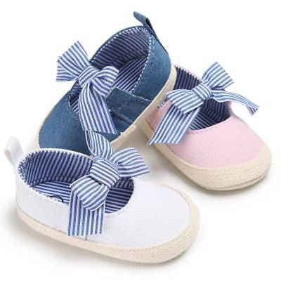 Baby Girls Princess Shoes Infant Toddler Crib Babe Kids First Walkers Canvas HOT