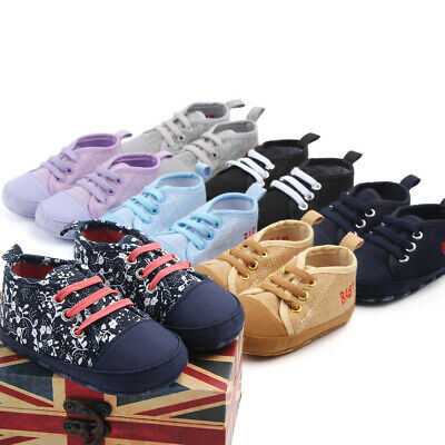 Toddler Infant Boy Baby Kids Breathable Canvas Shoes Sneaker Anti-slip Soft Sole