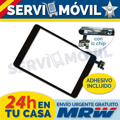 Pantalla Tactil para Ipad Mini 1 2   IC CHIP Negra + Flex Boton Home Negro