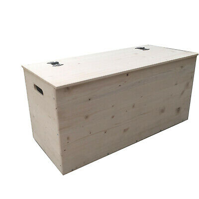 Cassapanca Valdomo Naturholz Holztruhe Chest Container in Natural Solid Wood