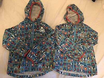 Twin Girls Frugi Puddle Buster Coats Jackets Age 5-6