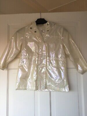 Girl's Next Cream Unicorn Raincoat Age 3/4 Yrs & Pink Bomber Jacket
