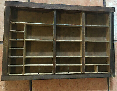 PRINTERS TYPE CASE Or DRAWER End Section Typecase Large Openings Letterpress